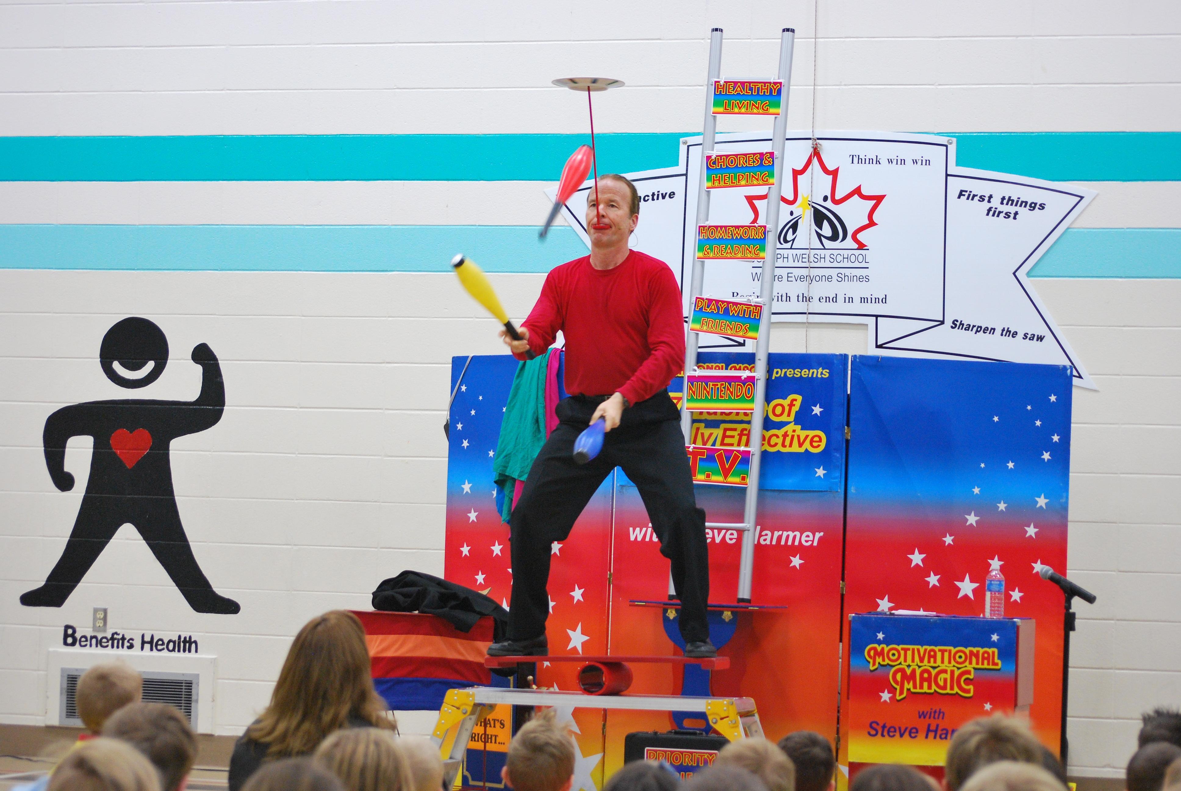 Steve balancing blocks